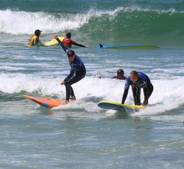 Beginner Surf Lesson from Praa Sands, Cornwall
