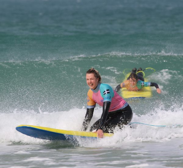 Beginner Surf Lesson from Gwithian Beach, Cornwall