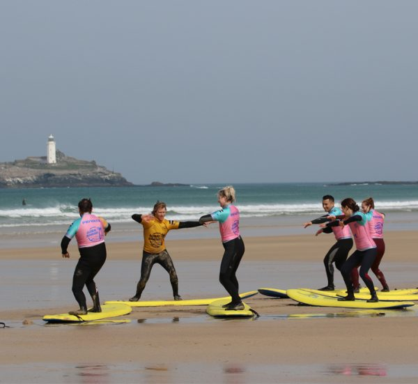 Beginner Surf Lesson from Praa Sands, Cornwall..