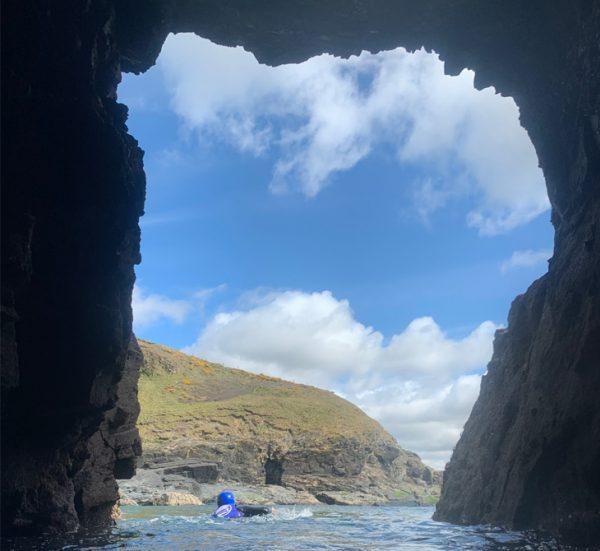 Caving at Praa Sands, Cornwall