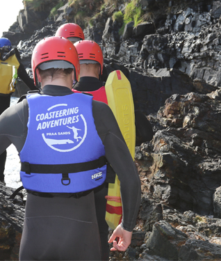 Frequently asked questions about coasteering in Cornwall.