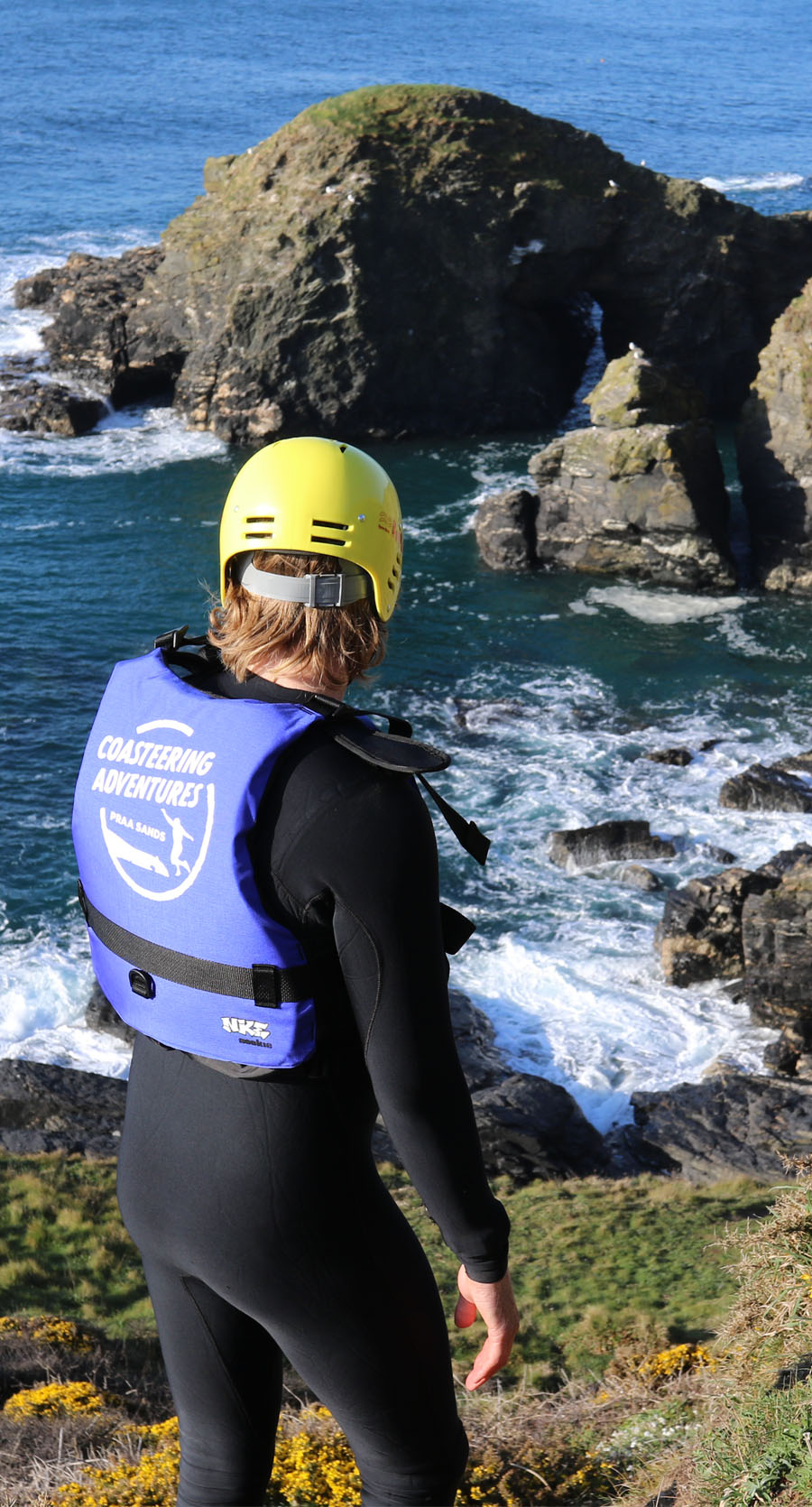 Discover why Praa Sands is one of the best places for coasteering in Cornwall.